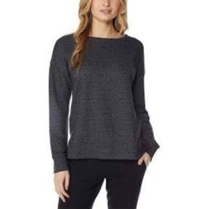 32 Degrees Ladies Charcoal Gray Fleece Top XLARGE